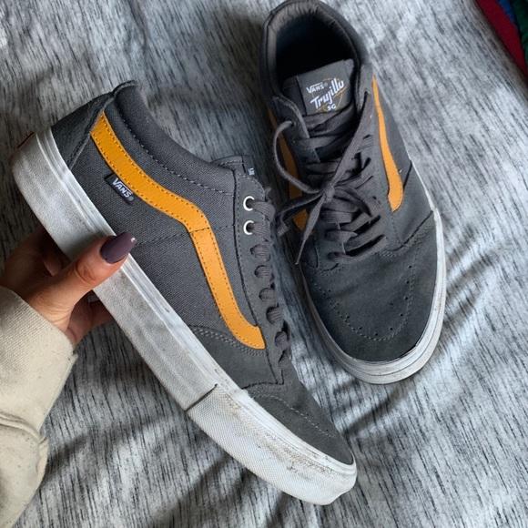 Vans Shoes | Vans Trujillo Grey Yellow